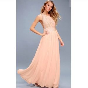 Forever and always blush maxi dress